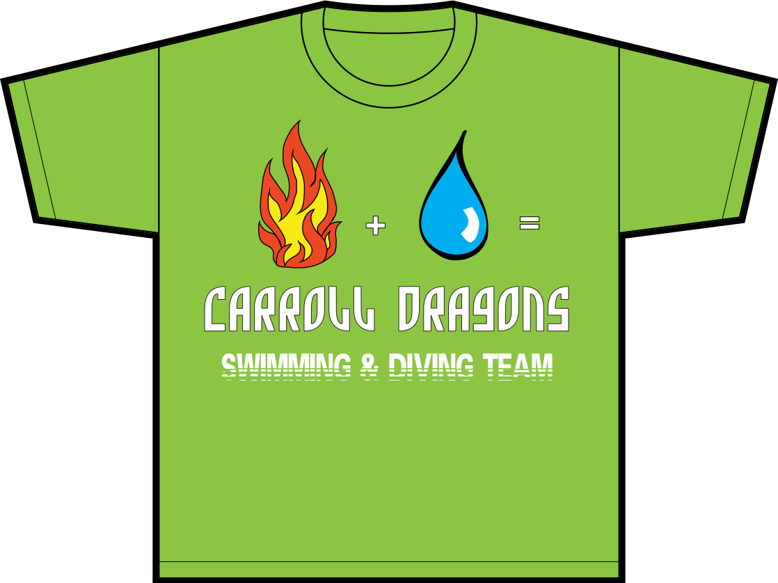 Carroll Dragins Swimming and Diving Team